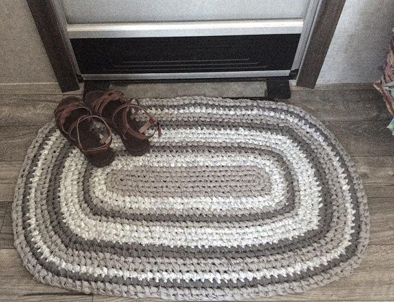 Gray Handmade Oval Rag Rug Toothbrush Knotted And Machine Wash Dry Kitchen Sink Rug Bathroom Rug Door Mat Touch Lt Moss Green Blue Rag Rug Machine Washable Rugs Rugs