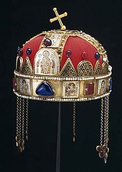 Crown of St. Stephen Day;  Hungary;  January 6;  Anniversary of the Jan. 6, 1978 return to Hungary of the famous crown of Stephen I, a gift of Pope Sylvester II; it had been secured at Fort Knox since World War II.