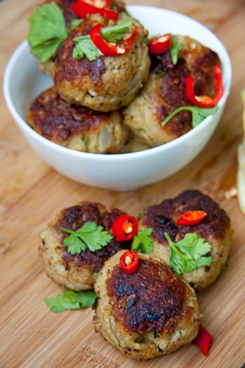 Chilli-Chicken Meatballs - Makes approximately 15 Meatballs, according to size.
