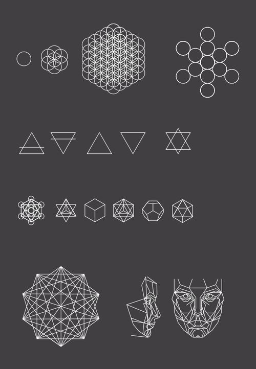 Sacred Geometry Seed of Life Flower of Life Fruit of Life Platonic Solids