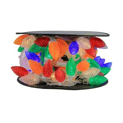Northlight 100 Piece Commercial Length LED Faceted C9 Christmas Light on Spool Spacing Set Color: Multi