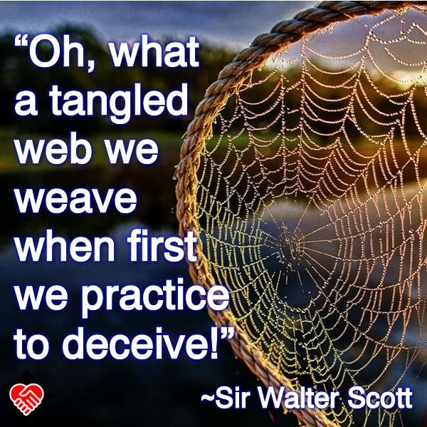 Oh What A Tangled Web We Weave When First We Practice To Deceive Sir Walter Scott Life Quotes Favorite Quotes Walter Scott
