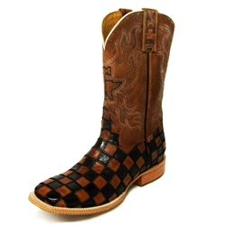Tin Haul Boots for Men - Checkerboard King