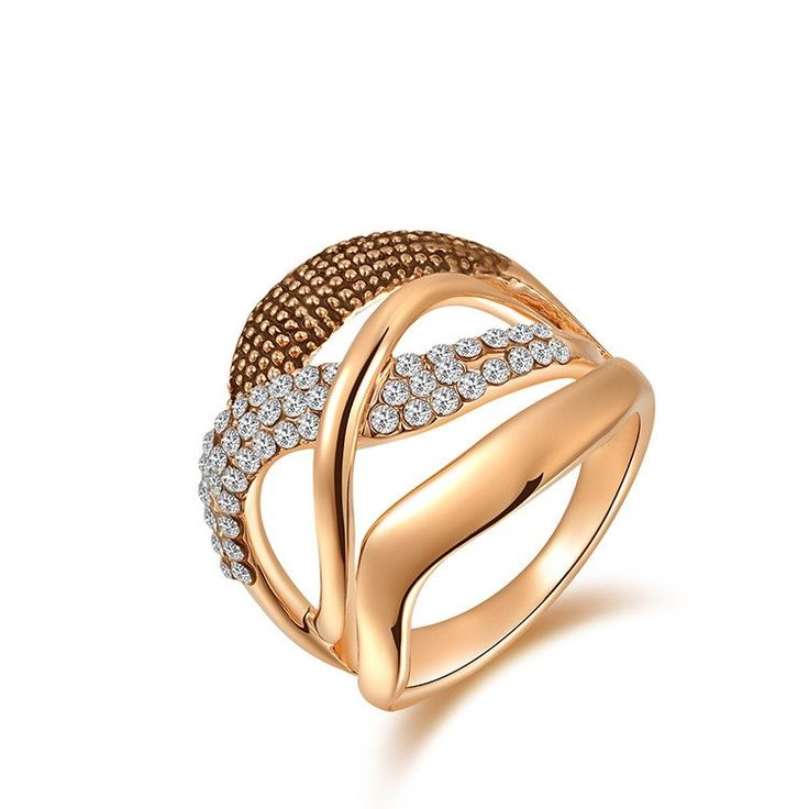 Fashion Rings gold plated, anillos ,wedding rings, Austrian crystal Environmental Micro-Inserted Jewelry R150040207R