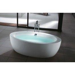 Vario Freestanding Bath. This freestanding bath with a contemporary minimalistic design is ideal for a medium sized bathroom.  Description:  Dimension (MM): Bathtub1800 x 950 x 600