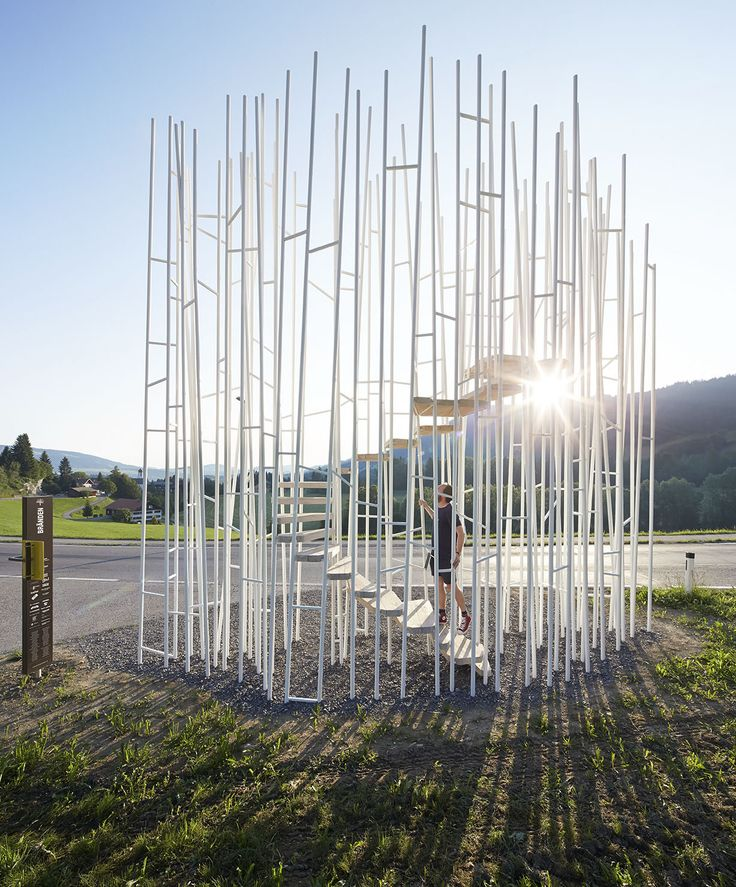What happens when seven internationally acclaimed architects are invited to design sculptural bus stops for a tiny Au...