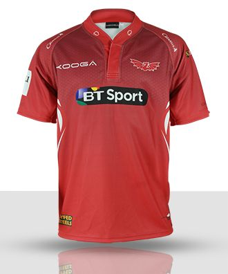 Replica scarlets rugby shirt