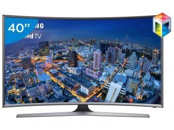 """Smart TV Gamer LED Curva 40"""" UN40J6500 - Full HD Conversor Integrado 4 HDMI 3 USB Wi-Fi"""