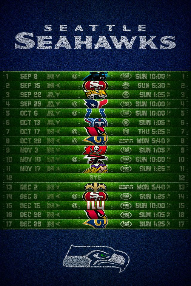 Seattle Seahawks 2013 Football Schedule iPhone 4 Wallpapers