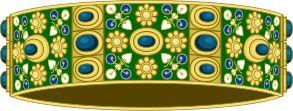 Couronne de fer de Lombardie, utilisée pour le couronnement de Napoléon roi d'Italie. Cette couronne se trouve au dôme de Monza.