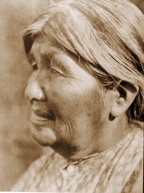 Your daily photo from Edward Curtis' The North American Indian! Port. 14, Pl. 507- A Yaudanchi Yokuts Woman The Yaudanchi formerly controlled the territory about the headwaters of Tule river in Tulare county, including the present Tule River...