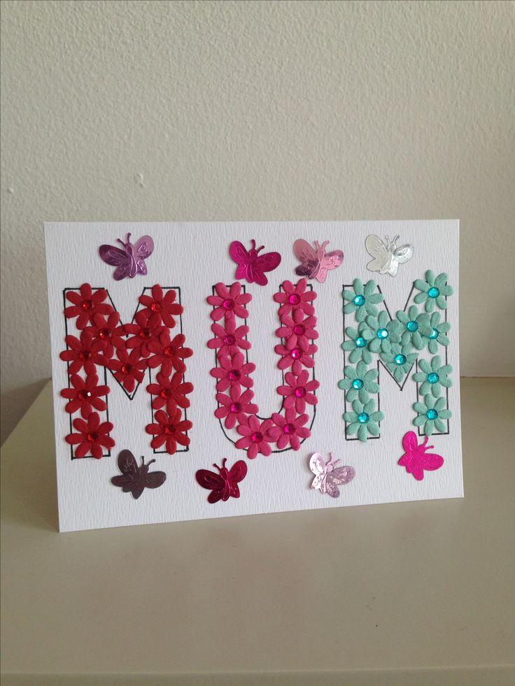 Handmade Mum card