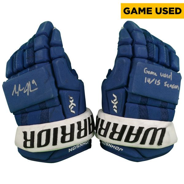 Tyler Johnson Tampa Bay Lightning Fanatics Authentic Autographed 2014-15 Season Game-Used Warrior AX1 Pro Hockey Gloves - $649.99