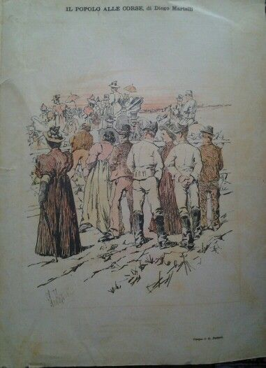 Illustraction by #GiovanniFattori,  for Fiammetta,  italian magazine,  1895,  RARE
