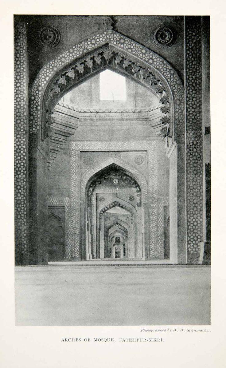 1905 Print Arch Mosque Fatehpur-Sikri Uttar Pradesh India Religion XGGB2