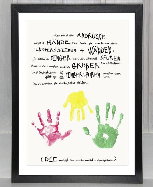 """Handabdruck - Geschwister: """"Unsere Hände für dich"""" von bei.werk ★ prints & more auf DaWanda.com"""