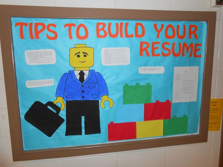 RA Bulletin Board, Lego, Resume Builder