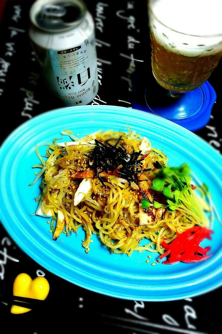Yumi103's dish photo ダシダで焼きそば | http://snapdish.co #SnapDish #レシピ #アレンジ焼きそばグランプリ #簡単料理 #晩ご飯 #焼く/炒め物 #焼きそば