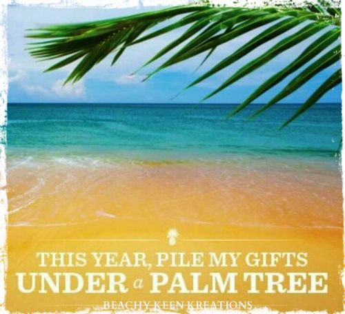 For Everyone Who Wants A Tropical Escape And Their Gifts Piled Under Palm Christmas Tree