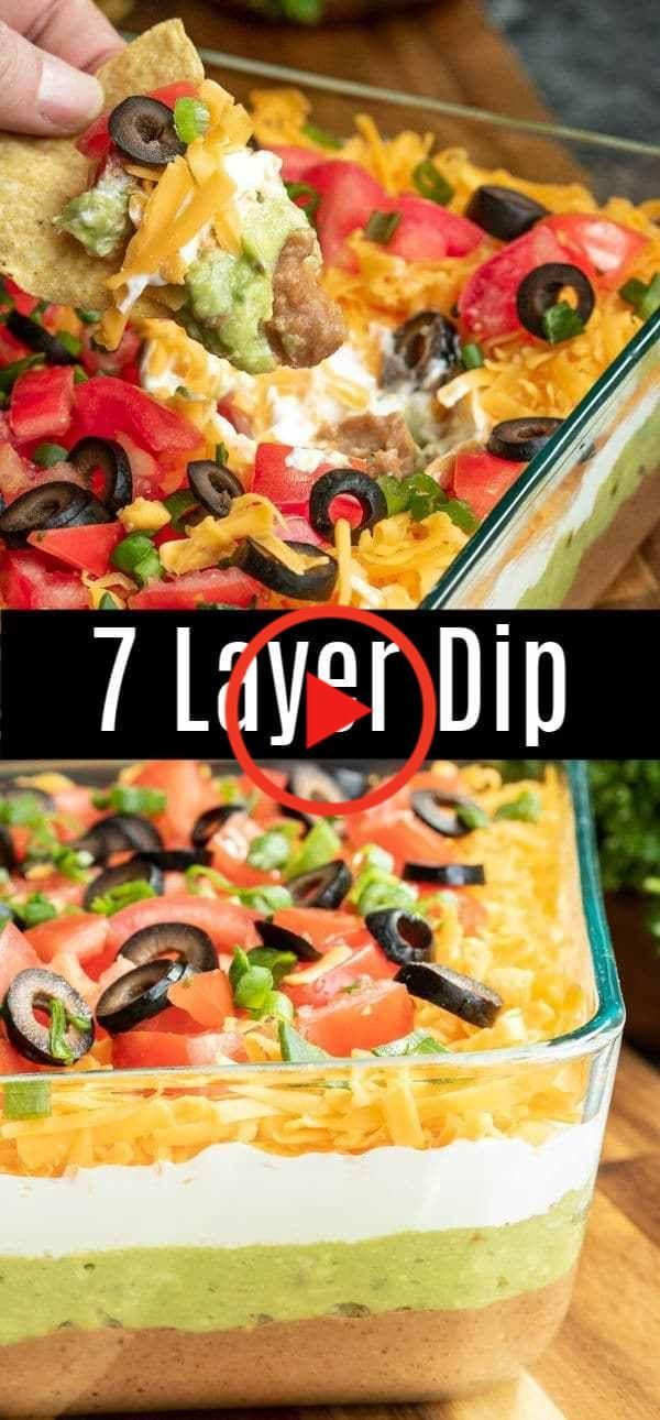 Mexican 7 Layer Dip Recipe Home Made Interest In 2020 Layered Dip Recipes Bowl Party Food Appetizers For Party