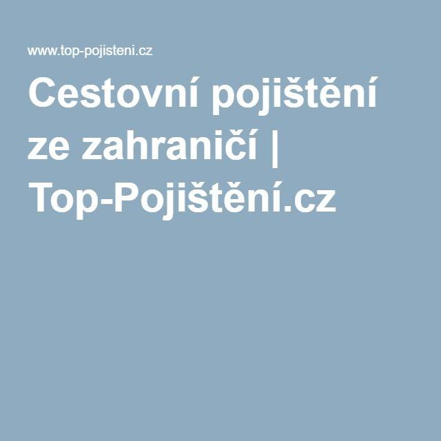 Cestovní pojištění ze zahraničí | Top-Pojištění.cz ®
