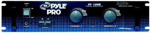 """PYLE PT-1200 600 Watt Power Amplifier by Pyle. $246.28. Dual XLR and 1/4'' combo jack and RCA inputs Dual output level controlsA/B speaker selectorBinding-post and 1/4"""" speaker connectionsClip circuitry with LED indicator Front panel headphone jack Frequency response: 10Hz-50kHz 110V/220V voltage selector19"""" W x 4 1/4"""" H x 10 3/4"""" D"""