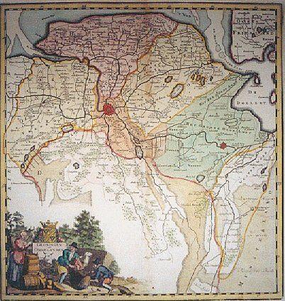 De Ommelanden, het Gorecht, hetOldambt en Westerwolde in de 16e eeuw