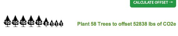 FOOTPRINT:  This is how many trees i would have to grow in order to balance out my CO2 usage.  This is a lot of trees just coming from my family and I.  I can't imagine how many trees there need to be if the entire world was calculated.