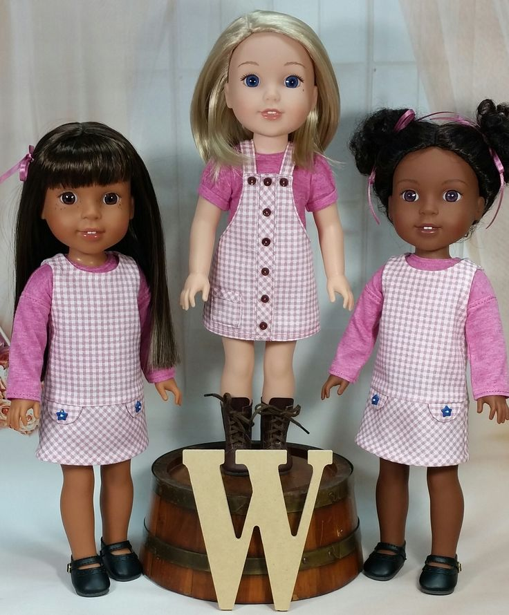 School Outfits for the Wellie Wishers - Doll Clothes by Shirley