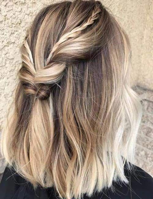 20 atemberaubende DIY Prom Frisuren für kurzes Haar ...