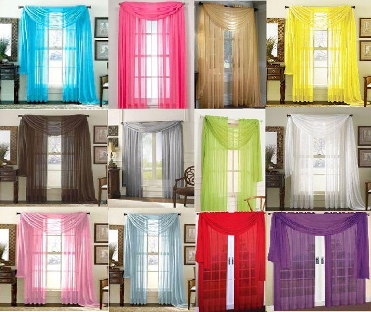 Come Hang un Sciarpa Valance Design Con idee interessanti e creative: colore fredda di come appendere una sciarpa Idee Valance design utilizzando per la casa Design