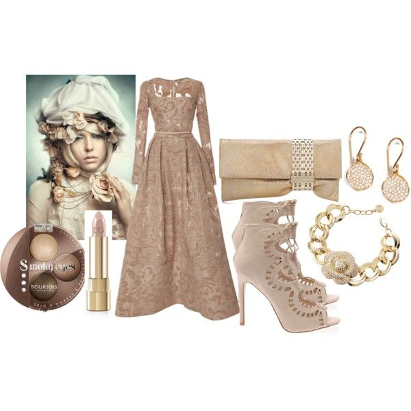 Pastel Romantic by ildikos on Polyvore featuring Elie Saab, Jimmy Choo, Ippolita, R.J. Graziano, Dolce&Gabbana and Bourjois