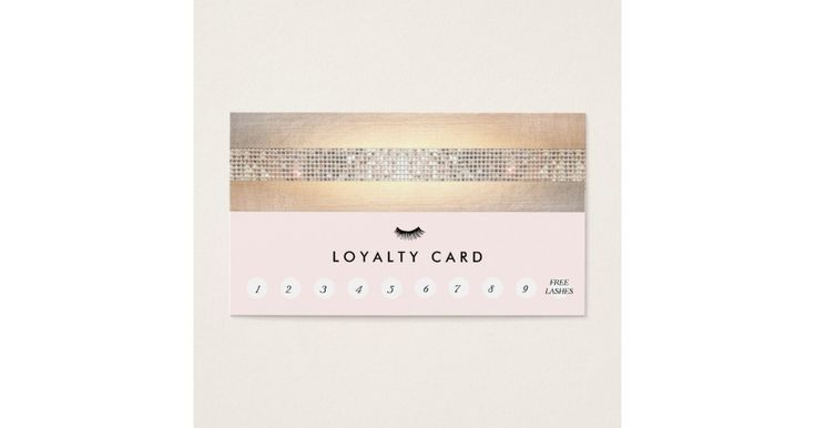 Eyelash extensions lash customer loyalty punch zazzle