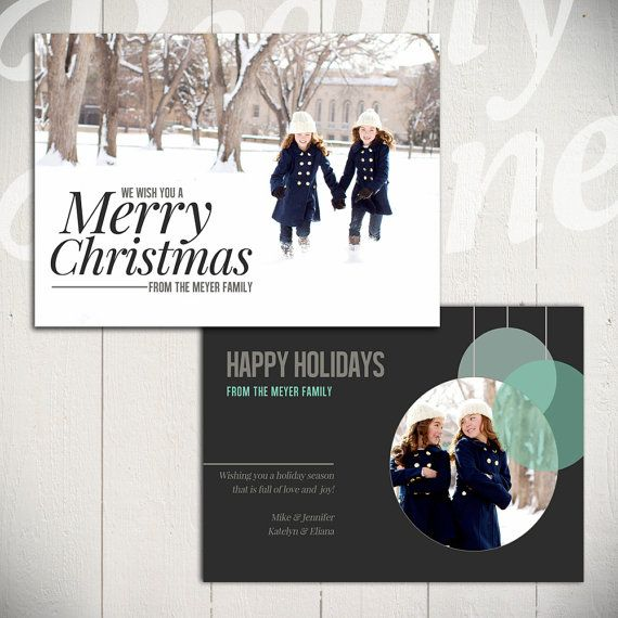 Christmas Card Template: Full of Love C - 5x7 Holiday Card Template for Photographers | By Beauty Divine Design on Etsy