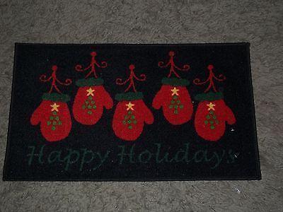 Martha Stewart Holiday Door Mat 18 X 30 Holiday Mittens