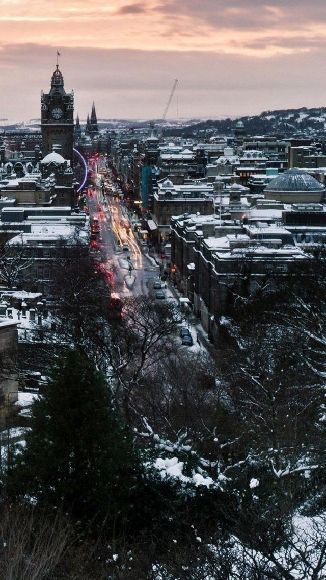 Winter in Edinburgh, Scotland Famous castles, Travel