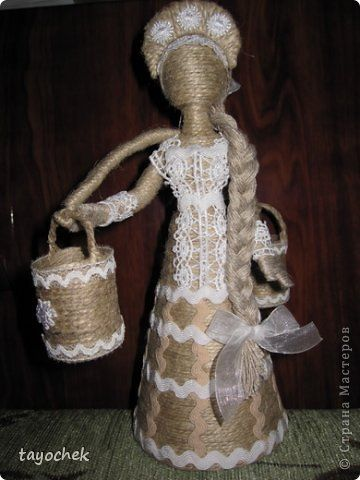 Куклы Оберег 8 марта День рождения Моделирование конструирование Шитьё Подарок для  любимой Клей Кружево Ткань Шпагат фото 1