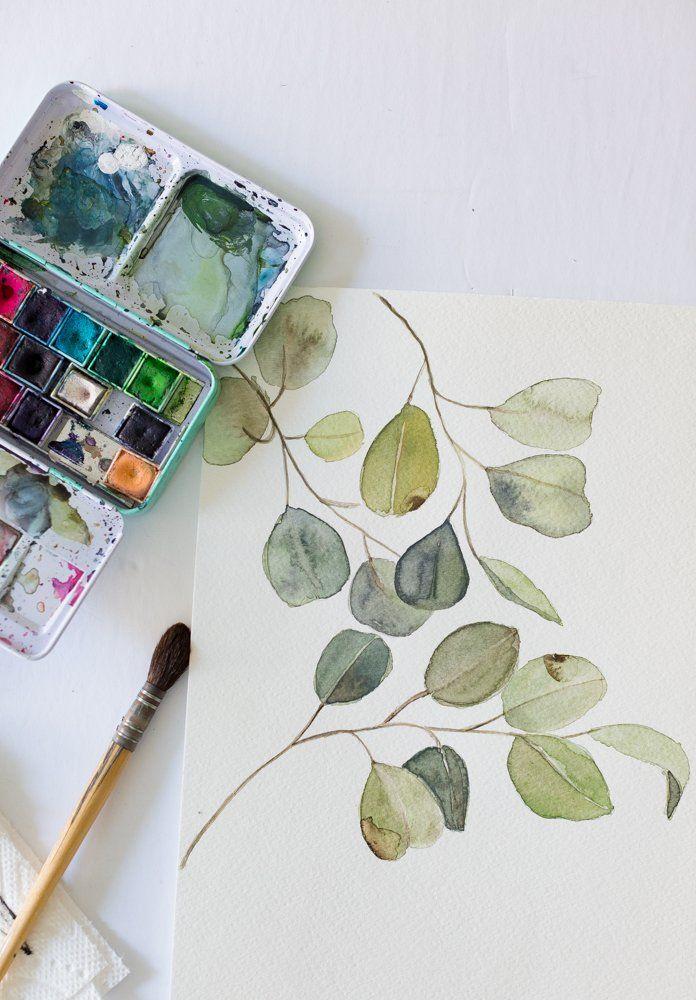 Diy Watercolor Wall Art Watercolor Art Diy Diy Wall Art Diy