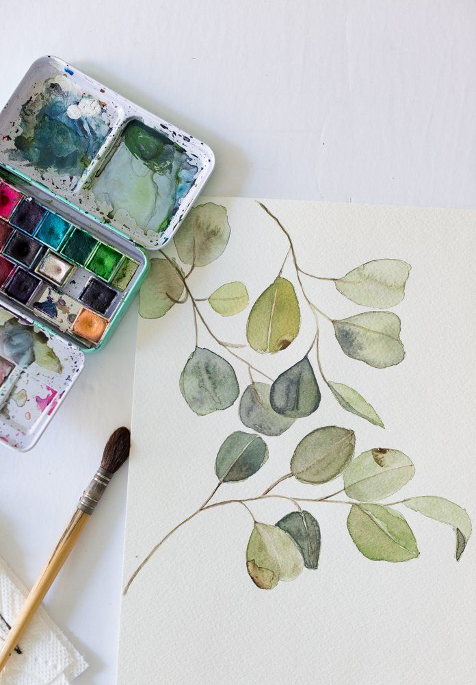 Free Watercolor Eucalyptus Printable And A Video With Images
