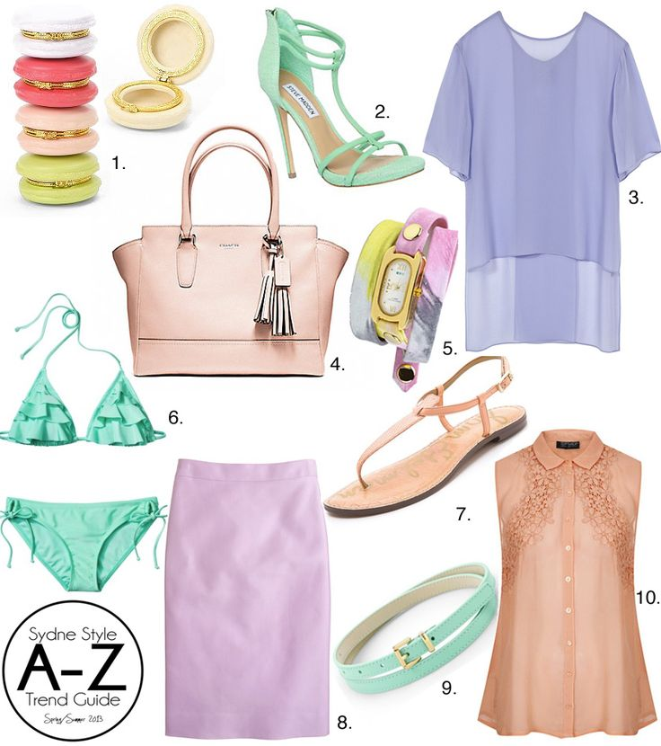Sydne Style A Z Guide Spring Summer 2013 Pastel trend macarons box periwinkle lavender peach mint shopping