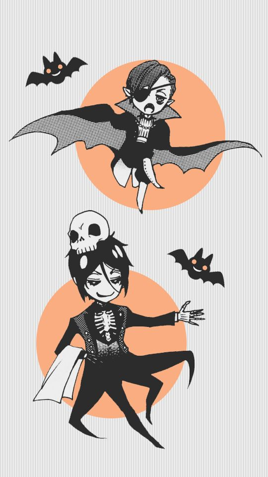 lawlietisawesome:  Halloween Kuroshitsuji 540x960 wallpaper // requested by anonFree to use / Do not repost or I will hunt you down