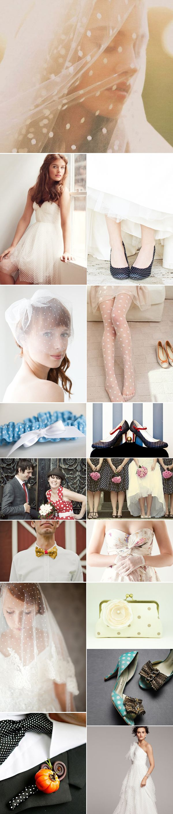 39 Polka-Dot Wedding Inspirations - Apparel