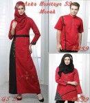 Baju Couple Terbaru Azka Heritage 59 Merah