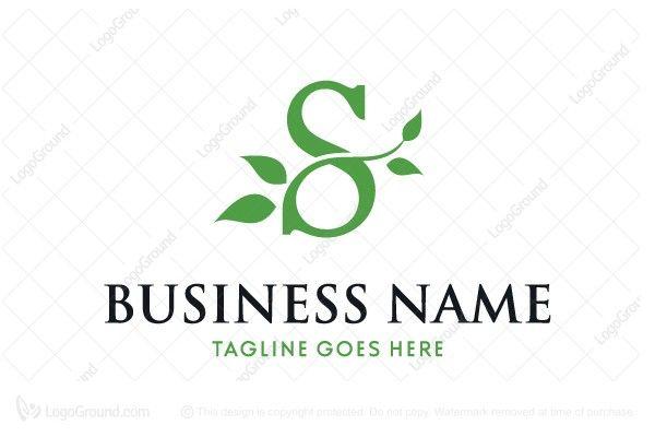 Exclusive Logo 73359 Letter S Leaves Logo Leaf Logo Letter S