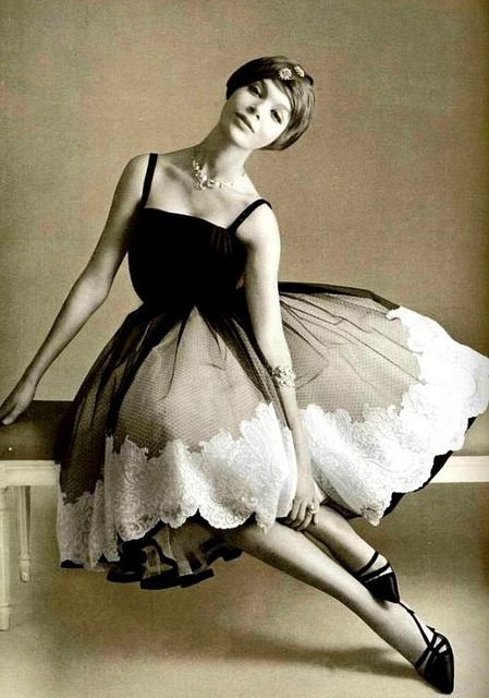 Christian Dior dress photographed by Philippe Pottier for L'Officiel, 1957.