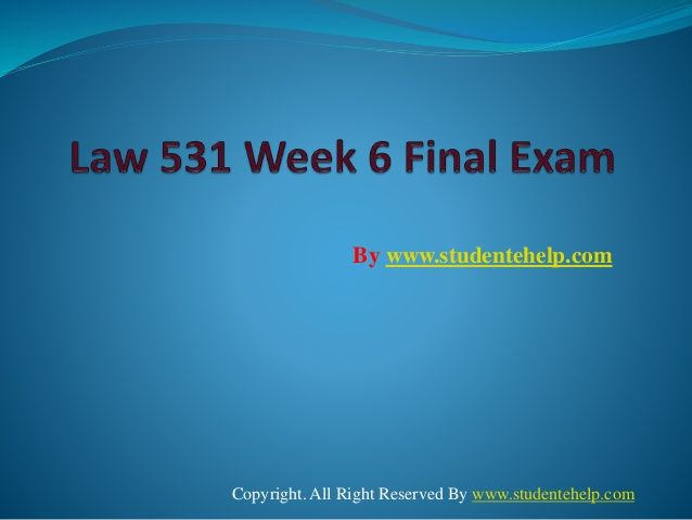 Get an A+ is quite difficult but knowing that the how to get it and still not doing so is foolish. Join http://www.StudenteHelp.com/ and we provide all the course including UOP LAW 531 Week 6 Final Exam Study Guide that will lead you to success.
