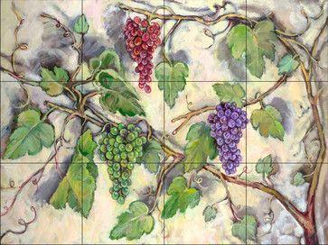 Tile Mural - Grape Bounty - Kitchen Backsplash Ideas - traditional - Tile Murals - The Tile Mural Store (USA)