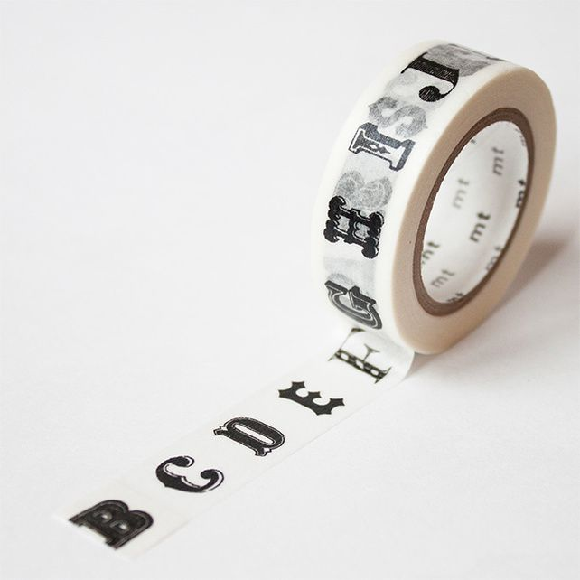 MT Alphabet Washi Tape £2.90