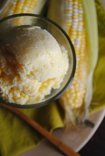 Sweet Corn Ice Cream! So unique and fabulous! Creamy, decadent and well, sweeeet! 6 ingredients, easy-peasy!
