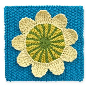 Stitchfinder : Knit Floral Block: Seventies Daisy : Frequently-Asked Questions (FAQ) about Knitting and Crochet : Lion Brand Yarn